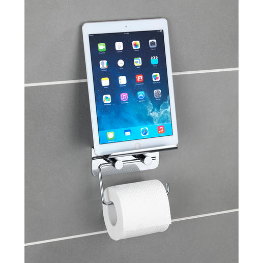 wenko edelstahl toilettenpapierhalter mit smartphone. Black Bedroom Furniture Sets. Home Design Ideas