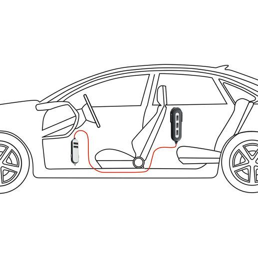 Mit dem Car-Charger versorgen Sie bis zu 5 Mobilgeräte mit Strom gleichzeitig auf Vorder- und Rücksitzen.