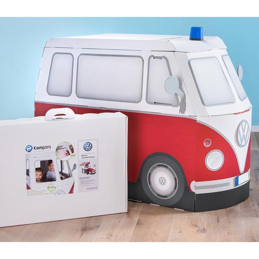 Das Spielmobil lädt zu Abenteuern und Phantasiereisen ein und lässt sich bei Bedarf zusammenlegen und schmal verstauen.