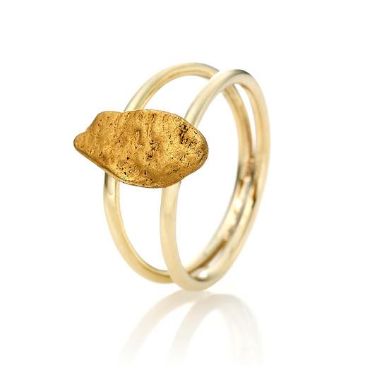 Goldnugget-Ring Ein echtes Goldnugget: außergewöhnliches Schmuck-Unikat, geformt von der Natur.