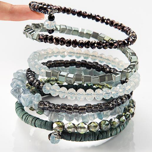 Langani Ethno-Spiralarmband 7 Armbänder in einem. Das spektakuläre Spiralarmband von Langani. In Deutschland handgefertigt.