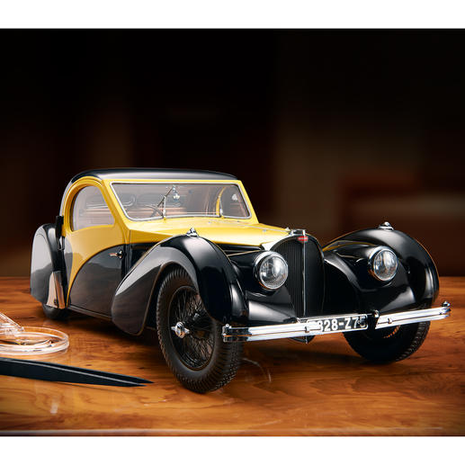 Bugatti Atalante Type 57SC Modell 1:12 Modellauto des Jahres 2015, limitiert auf 500 Stück. Schwere, detailgetreue Ausführung aus der renommierten deutschen Werkstätte Heinrich Bauer.