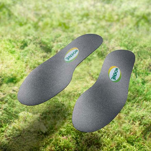 Noene®-Einlegesohlen oder Sporteinlage Hightech-Gelenkschutz für jeden Schuh. Unglaubliche 2 mm (!) flach.