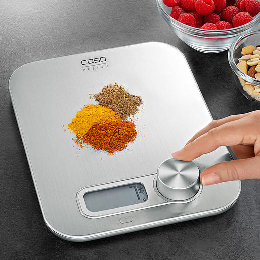 Küchenwaage Kinetic-Energy Die wohl erste digitale Küchenwaage ohne Batterie.