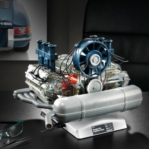 Steckbausatz Porsche 6-Zylinder-Boxermotor - Motoren-Technik mit Kultstatus: der Porsche 6-Zylinder-Boxermotor als bewegliches 1:4-Modell.