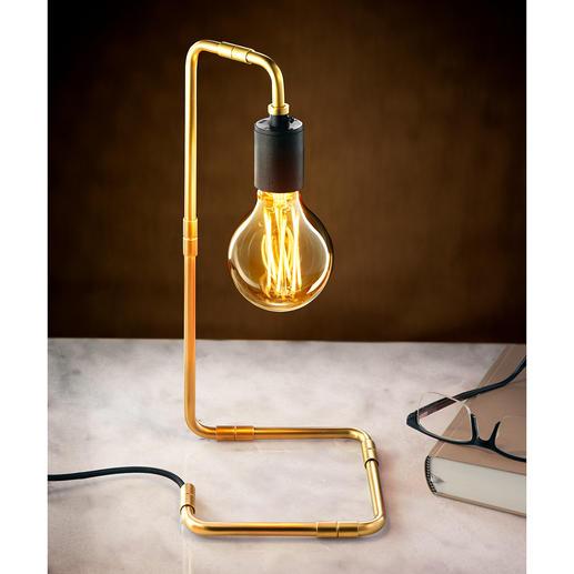 Industrial-Design-Tischleuchte - Endlich eine konsequente Leuchte – bei der alles zum Design gehört. Kein Kabel stört den puristischen Look.