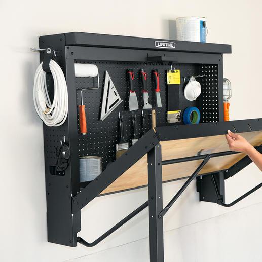 Mit einem Handgriff klappen Sie den vollwertigen Werkplatz auf.