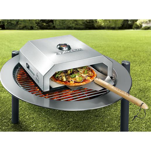 Pizzaofen Firebox - Der Pizzaofen für Ihren Grill: backt original Steinofenpizza wie beim Italiener. Ohne Aufwand. In Minuten.