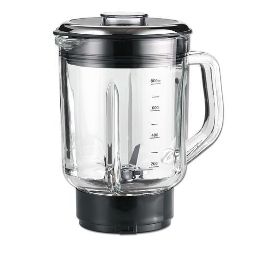 0,8 l-Mixeraufsatz (16.000 U/min) aus Glas für Smoothies, Suppen, Shakes, Mahlen von Nüssen oder Backzutaten ...