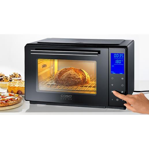 Bistro-Ofen mit Drehspieß - Perfekt zum Braten, Grillen, Backen, Toasten, Auftauen, Erwärmen. In Minuten aufgeheizt. Spart Zeit und Energie.