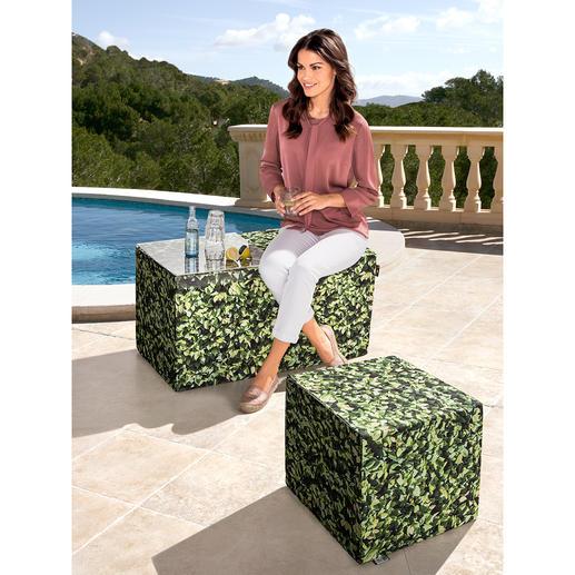 Hainbuchen Möbel - Die Buchenhecke zum Sitzen. Und als originelle Ablage. Für Drinnen und Draußen. Perfekt als Hocker, Bank, Beistelltisch.