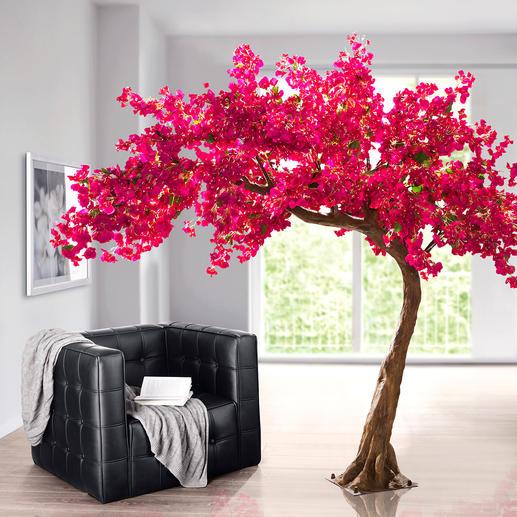 Kunstbaum Bougainvillea - Eine prachtvolle Bougainvillea: Ihr Dauerblüher für Drinnen und Draußen. Mit rund 5.500 täuschend echten, pinkfarbenen Blüten.