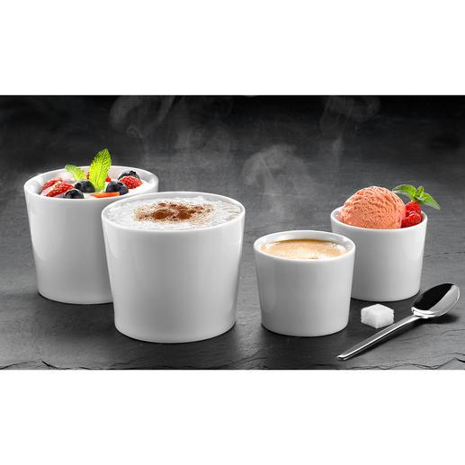 """Isolier-Becher """"Version One"""", 2er-Set - Doppelwandiges Porzellan hält Ihre Getränke und Speisen länger heiß oder kalt."""