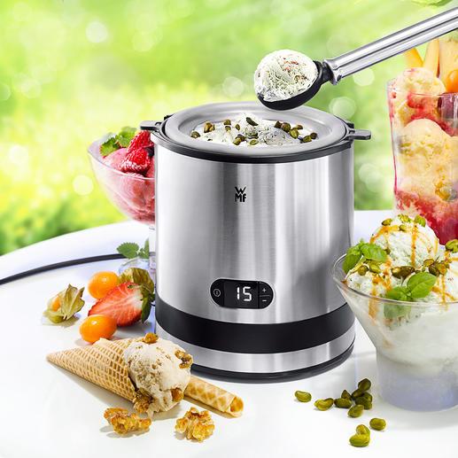 WMF KÜCHENminis Eismaschine - Die bessere Eismaschine: mit professionellem Edelstahl-Behälter (statt Aluminium).
