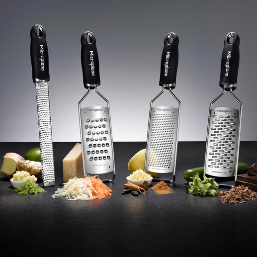 Microplane®-Küchenreiben - Dauerhaft messerscharfe photochemisch geätzte Klingen: schneiden präzise und hauchfein statt zu reißen.