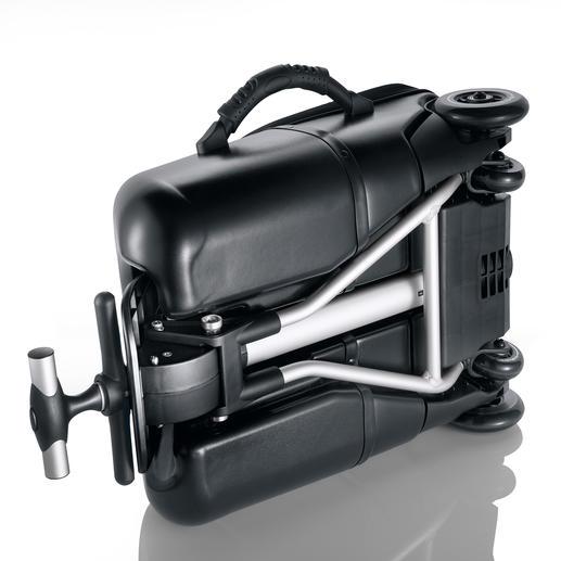 Zusammengefaltet lässt sich Micro Lazy Luggage auch problemlos tragen.