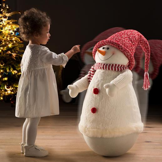 Schaukelnder Schneemann - Fröhlicher Schwung für die Winter- und Weihnachtszeit. Ein Eyecatcher, der Jung und Alt viel Freude beschert.