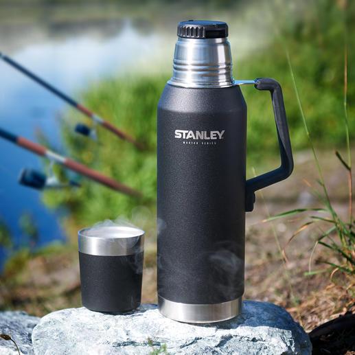 Stanley 1,3-l-Isolierflasche MASTER Series - Die Heavy-Duty-Isolierflasche aus den USA: hält Getränke 40 Stunden (!) heiß und 35 Stunden kalt.