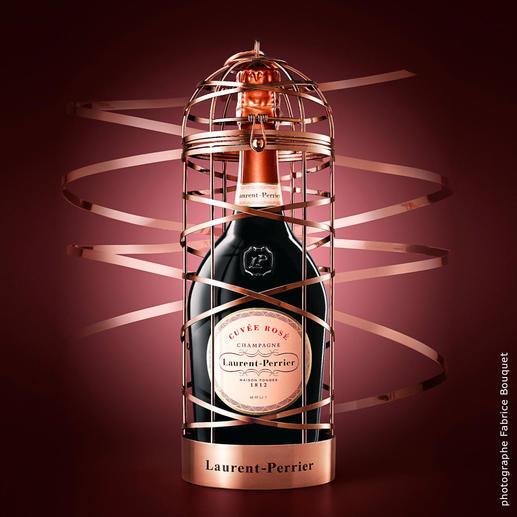 Cuvée Rosé im Käfig, Laurent-Perrier, Champagne, Frankreich - Spektakuläres Geschenk. Limitierte Edition. Nur noch wenige Exemplare.