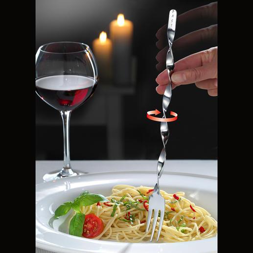 Spaghetti-Spiralgabel, 2er-Set Genial: Die Spiral-Gabel macht Spaghetti drehen zum Kinderspiel. Fein säuberlich. Ohne Löffel.