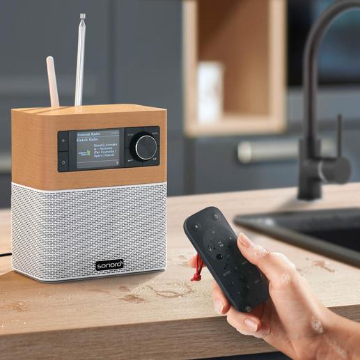 Sonoro sonoroSTREAM Musiksystem, UKW/DAB+ Radio, USB, WLAN, Walnuss ...
