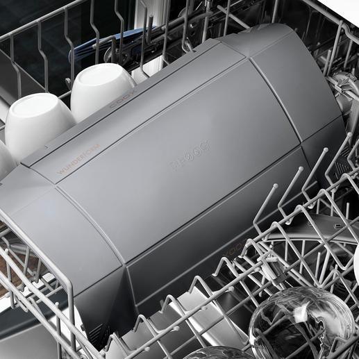 Einfach aufgefaltet zum Reinigen in die Spülmaschine geben.