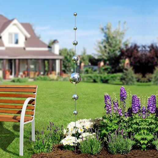 Gartenkugeln-Stab - Schlechte Nachrichten für böse Geister. Und ein schöner Akzent in Ihren Blumenrabatten, am Teich, ...