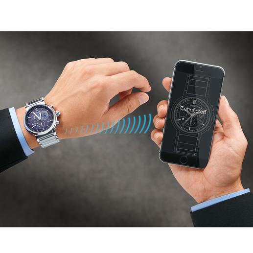 Über die kostenlose App und die kabellose Bluetooth 4.0Low-Energy-Verbindung koppeln Sie die Uhr mit Ihrem Smartphone.