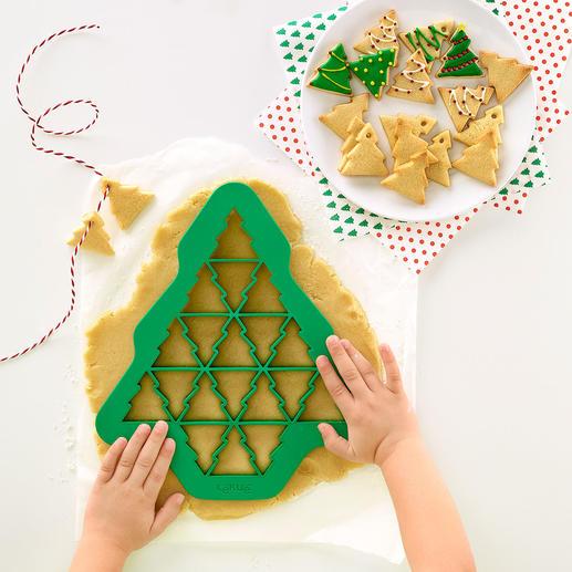 Ausstech-Schablonen, 3er-Set (Tannenbaum, Herz, Schneeflocke) - Mit einer Ausstechform: bis zu 19 (!) perfekt geformte Kekse zugleich. In unterschiedlichen Formen und Größen.