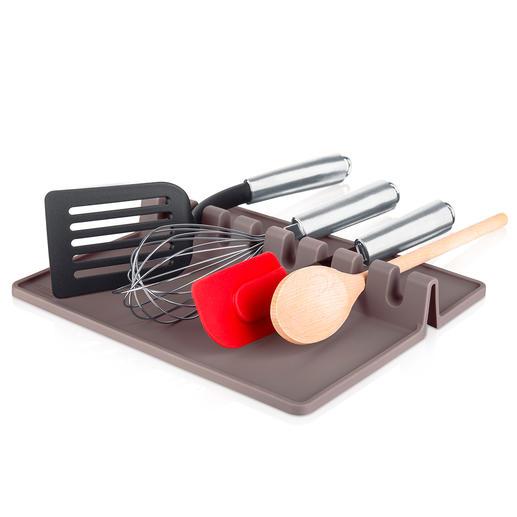 Kochutensilien-Ablage XL - Alles griffbereit – und Ihre Arbeitsfläche bleibt sauber. Platz für bis zu 8 Kochutensilien.