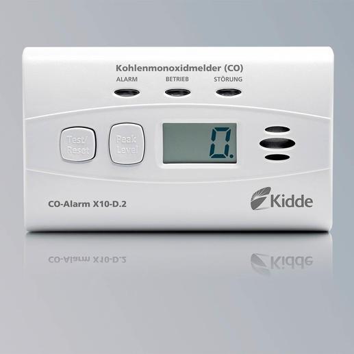 CO-Alarm X10-D.2 - Lebenswichtige Technologie von Kidde, Weltmarktführer für Kohlenstoffmonoxid- und Rauchmelder im Privatbereich.