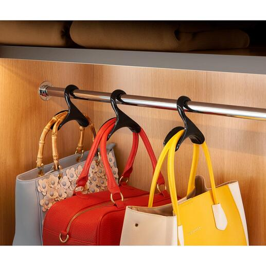 """Handtaschenbügel """"Black Swan"""", 3er-Set Standesgemäße Aufbewahrung für Ihre Lieblingstaschen."""