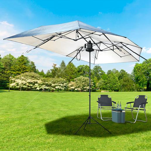 In einem Ihr portabler 8-m²-Sonnenschirm: Teleskop-Schirmständer separat erhältlich.