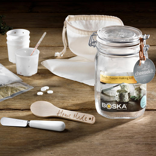 Boska Frischkäse oder Mozzarella-Set - Hausgemachter Mozzarella und Frischkäse – mit diesen Zubereitungs-Sets ein Kinderspiel.