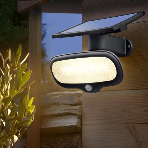 500 Lumen Solar-Sicherheitslicht - Heller als eine 40 Watt Birne – und kein Cent Stromkosten.