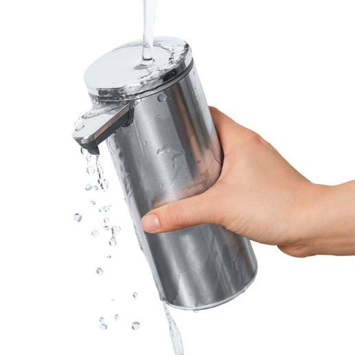 Zum Reinigen können Sie den wasserdichten Spender (IP67) bedenkenlos unter fließendem Wasser abwaschen.