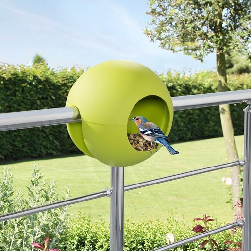 Birdball-Geländerfutterhaus Das Vogelfutterhaus für Ihr Balkon- oder Terrassengeländer. Oder einen Ast.