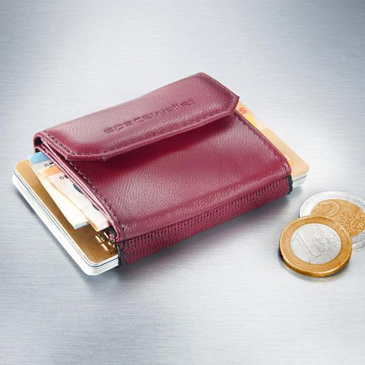 Space Wallet® Mini-Damenbörse - Nicht größer als eine Puderdose: Perfekt für die angesagten Mini-Bags, elegante Clutches und Abendtaschen.