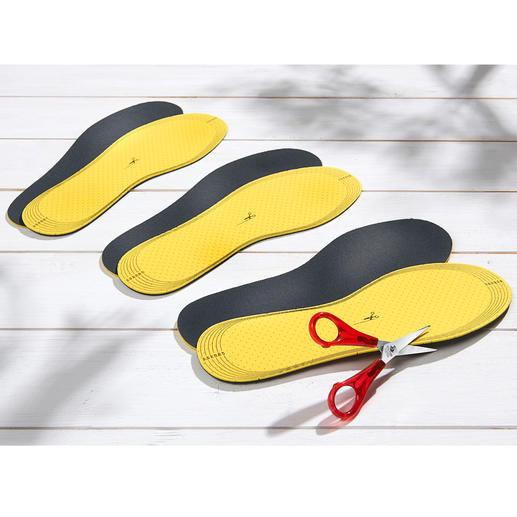 Die Einlegesohlen lassen sich schnell mit der Schere Ihrer Schuhgröße anpassen.