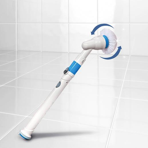 Hurricane® Spin Scrubber Ruck-zuck: strahlender Glanz und hygienische Sauberkeit. Ohne Schrubben. Ohne Bücken.