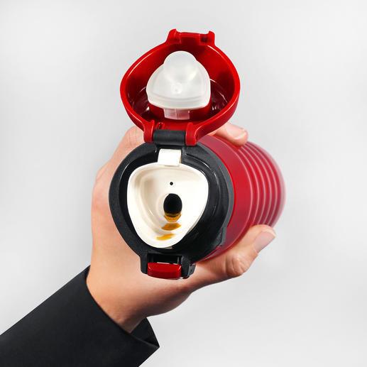Mit ergonomisch geformtem Mundstück – ideal auch für Heißgetränke.