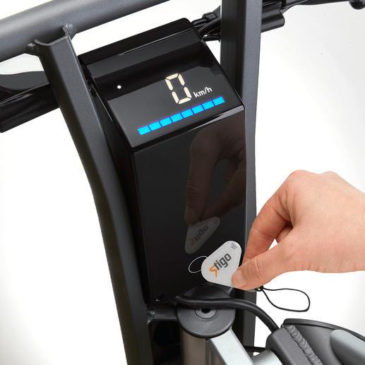 Mit dem Touch-Key entsperren Sie den E-Scooter.