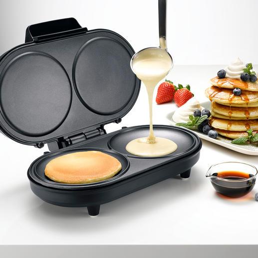Pancake-Maker - Zaubert die locker-leichten Eierkuchen schnell und genau nach Wunsch. 2 Stück zugleich.