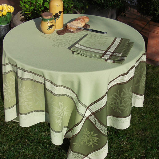 Gewebte Oliven-Tischwäsche