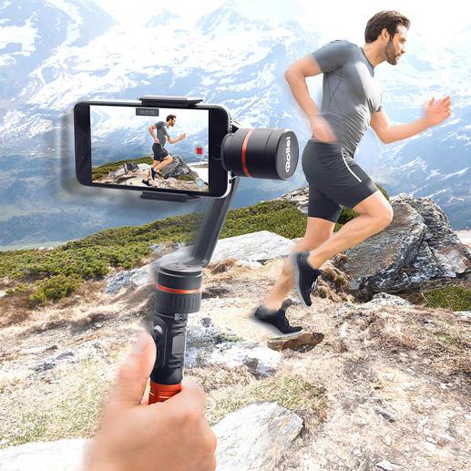 Rollei Smartphone-Gimbal - Wackelfreie Smartphone-Videos – aus der Hand gefilmt. Mit dem professionellen 3-Achsen-Gimbal von Rollei einfach wie nie.