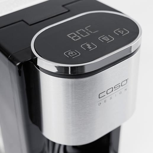 Einfach über das Bedienfeld per Sensortouch bestimmen Sie die Ausgabetemperatur und beziehen auf Knopfdruck bis zu 2,2l heißes Wasser.