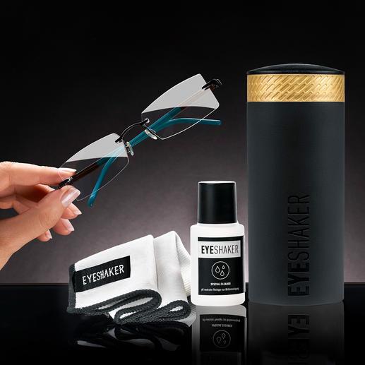 Eyeshaker Brillenreinigungs-Set - Brillenreinigung im Handumdrehen. Ohne Strom. Günstiger und umweltfreundlicher als mit Einwegtüchern.
