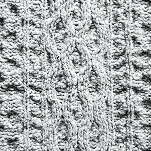 Irelands Eye Aran-Strickplaid