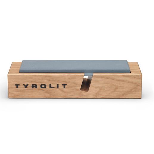 Legen Sie den Schleifstein flach auf – perfekt zum platzsparenden Verstauen in der Schublade.