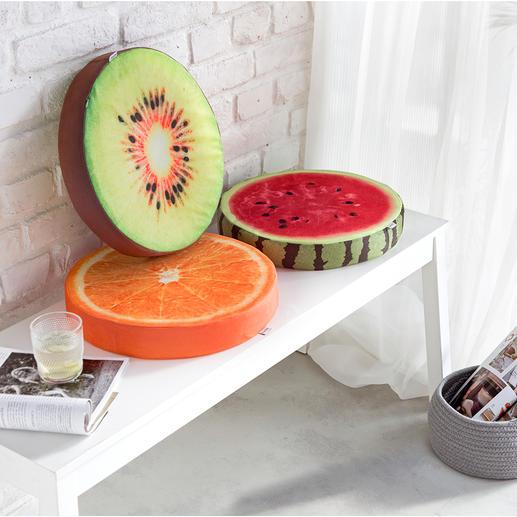 Fruchtkissen, 3er-Set Die besseren Sitzkissen: Viel bequemer und schöner als einfache Auflagen.